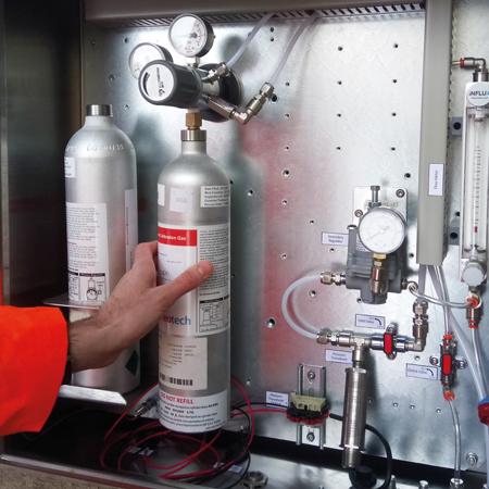 De BioMethane 3000 kalibreert volledig automatisch.